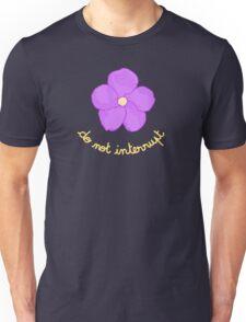 Do not Interrupt - Purple Flower Unisex T-Shirt
