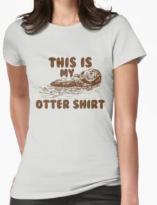 otter shirt Womens Fitted T-Shirt