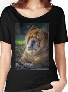 Cute chow dog portrait Women's Relaxed Fit T-Shirt