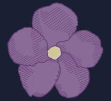 Purple Flower Kids Tee