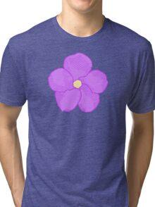Purple Flower Tri-blend T-Shirt