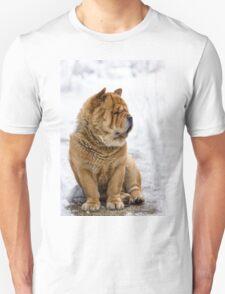 Winter chow dog portrait T-Shirt