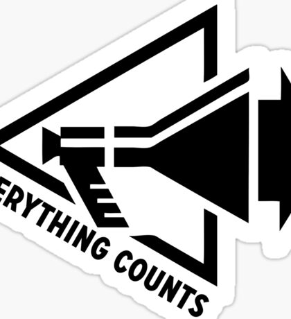 Everything Counts Sticker