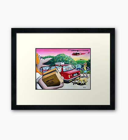 Code Red Day Framed Print