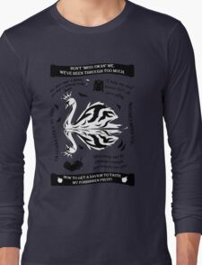 SwanQueen Quote Tee. Evil Regal. Dark Swan. Long Sleeve T-Shirt
