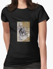 Henri De Toulouse-Lautrec - Riders On The Way To The Bois Du Bolougne Womens Fitted T-Shirt