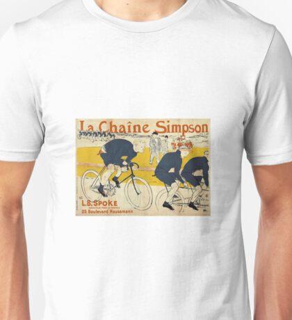 Henri De Toulouse-Lautrec - The Simpson Chain Unisex T-Shirt