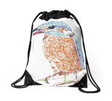 Alcedo atthis Drawstring Bag