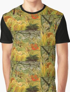 Henri Rousseau - Iger In A Tropical Storm Surprised Graphic T-Shirt