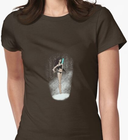Transe in the snow Womens Fitted T-Shirt