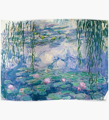 Water Lilies Claude Monet Fine Art Poster