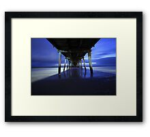 Grange Jetty in the wintertime Framed Print