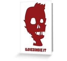 ilovezombie LOGO 2 Greeting Card