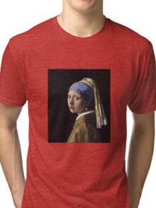Johannes Vermeer - The Girl With A Pearl Earring Tri-blend T-Shirt