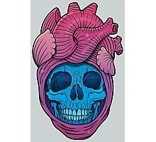 Skull Heart Photographic Print