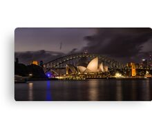 Sydney Opera at the Bridge Canvas Print