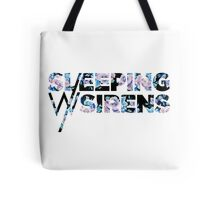 Sleeping With Sirens Logo Floral Tote Bag