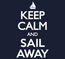 Keep Calm and Sail Away Sailing Yacht T Shirt One Piece - Long Sleeve
