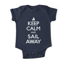 Keep Calm and Sail Away Sailing Yacht T Shirt One Piece - Short Sleeve