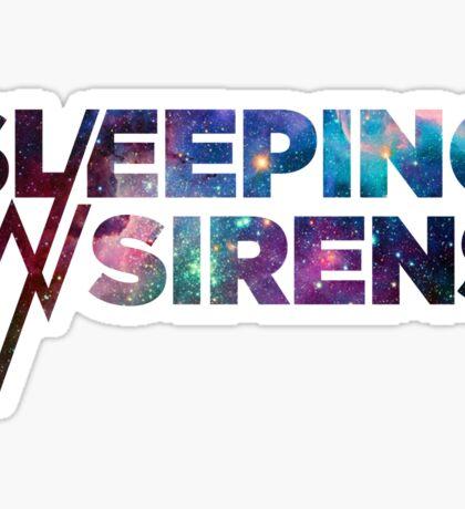 Sleeping With Sirens Logo Galaxy Sticker