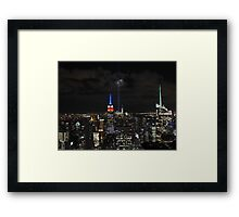 New York 9/11 Tribute from Top of the Rock, September 11th 2015 Framed Print