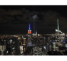 New York 9/11 Tribute from Top of the Rock, September 11th 2015 Photographic Print
