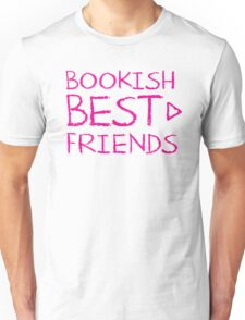 BOOKISH BEST FRIENDS pink matching with arrow right Unisex T-Shirt
