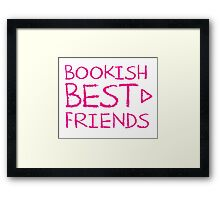 BOOKISH BEST FRIENDS pink matching with arrow right Framed Print