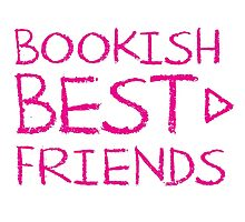 BOOKISH BEST FRIENDS pink matching with arrow right Photographic Print
