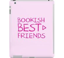 BOOKISH BEST FRIENDS pink matching with arrow right iPad Case/Skin