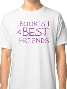 BOOKISH BEST FRIENDS purple matching with arrow left Classic T-Shirt