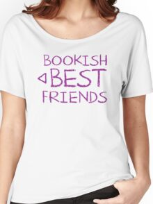 BOOKISH BEST FRIENDS purple matching with arrow left Women's Relaxed Fit T-Shirt