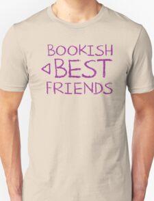 BOOKISH BEST FRIENDS purple matching with arrow left Unisex T-Shirt