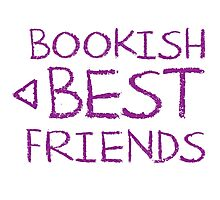 BOOKISH BEST FRIENDS purple matching with arrow left Photographic Print