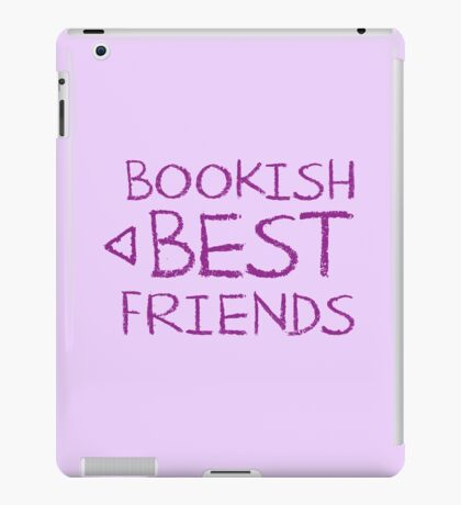 BOOKISH BEST FRIENDS purple matching with arrow left iPad Case/Skin