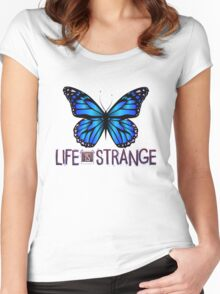 Life is Strange 3 - Blue butterfly Women's Fitted Scoop T-Shirt