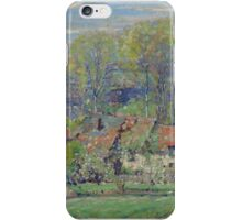 Karl Albert Buehr - The Artist S House Springtime  iPhone Case/Skin