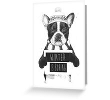 Winter is boring Greeting Card