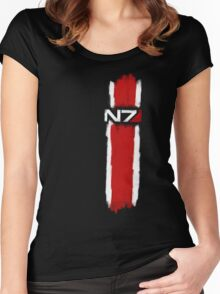 N7 - Mass Effect Women's Fitted Scoop T-Shirt
