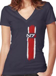 N7 - Mass Effect Women's Fitted V-Neck T-Shirt