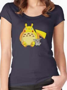 Totorotchu & Pikaro  Women's Fitted Scoop T-Shirt
