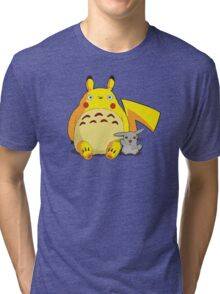 Totorotchu & Pikaro  Tri-blend T-Shirt