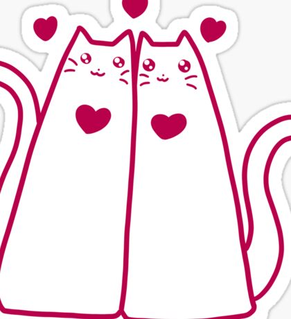 Kitty Friends Sticker