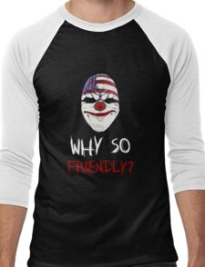 Why so friendly? - White Ink Men's Baseball ¾ T-Shirt