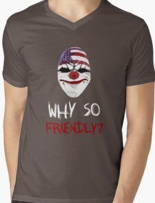 Why so friendly? - White Ink Mens V-Neck T-Shirt