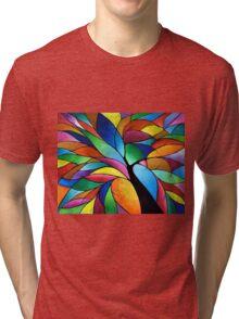 Rainbow Tree Tri-blend T-Shirt