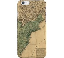 American Revolutionary War Era Maps 1750-1786 947 The United States of America with the British possessions of Canada Nova Scotia & of Newfoundland divided iPhone Case/Skin