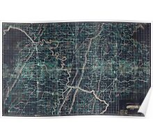 036  Map of portions of Virginia West Virginia and Maryland centering on Harpers Ferry and including Winchester Hancock Emmitsburg and Ridgeville Maryland Inverted Poster