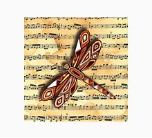 Dragonfly Music Sheet Sepia Classic T-Shirt