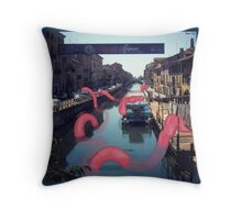 Monsters in Milan 3  Throw Pillow